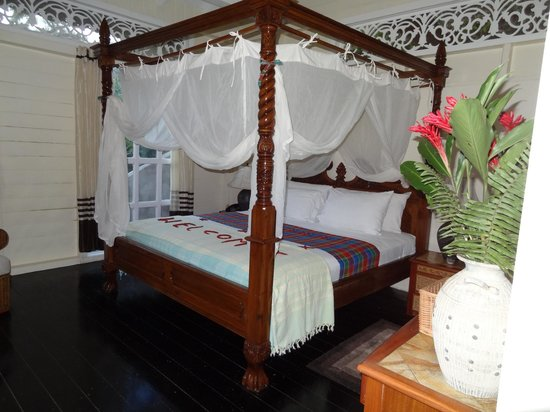 Fond Doux Plantation & Resort:                   Treehouse bedroom