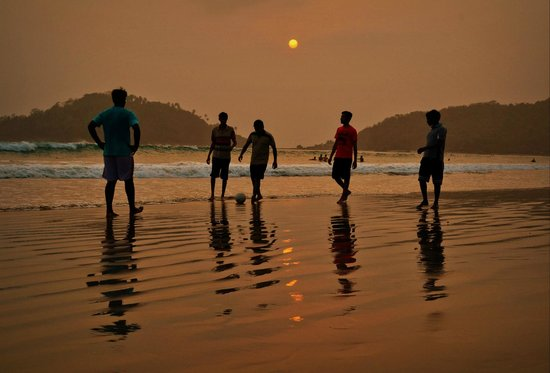 Canacona, Indien: Sunset at Palolem