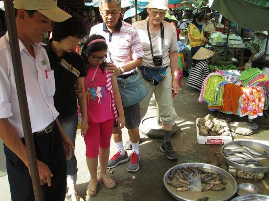 Mekong Lodge Vietnam Day Tour :                                     With Mr. Khoa on fish market