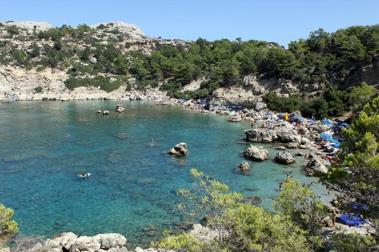 Faliraki, Grekland:                   Anthony Quinn Bay