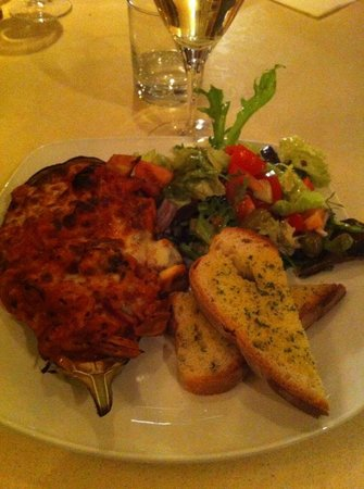 Cloisters:                                     Aubergine risotto