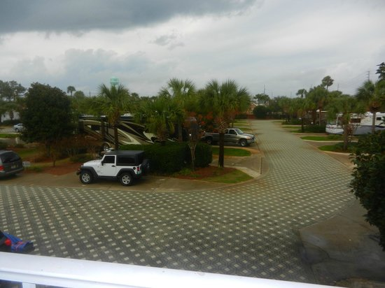 Destin RV Resort:                                     View from condo balcony