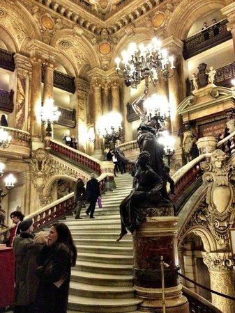 Palais Garnier - Opéra National de Paris:                   The grand staircase