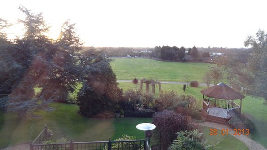 Battleborough Grange Country Hotel & Restaurant: room view towards the M5