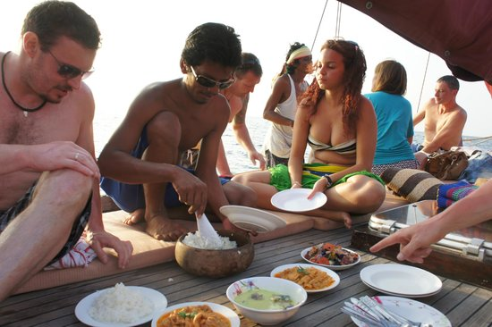 DragonHeart Sunset Snorkel Cruise-Private Day Cruise:                   eating lunch