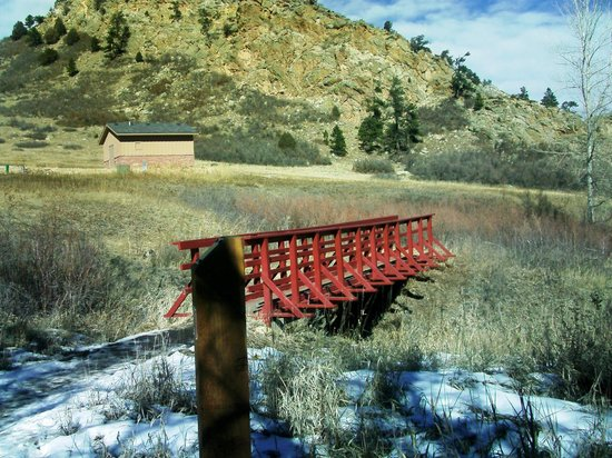 Roxborough State Park:                   Pleasant bridge at Willow Creek.