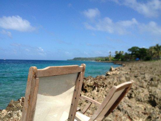 Playa Tranquilo:                   Das Meer direkt am Eingang des Hotels