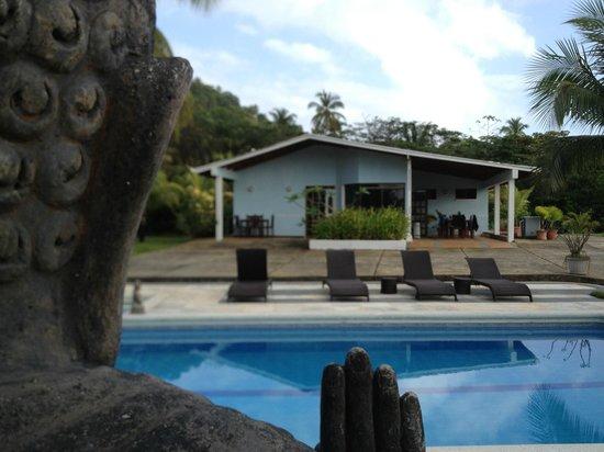 Playa Tranquilo:                   Das Appartmenthaus, rechts haben wir immer gefrühstückt
