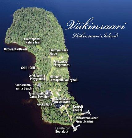 Viikinsaari Island Map Picture Of Ravintola Viikinsaari Tampere