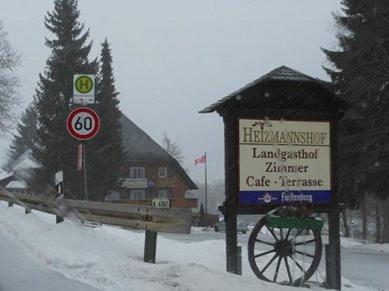 Landgasthof Heizmannshof :                                     Hôtel depuis la route