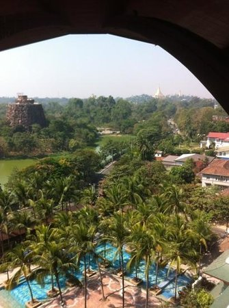 Chatrium Hotel Royal Lake Yangon:                                     the view from our room