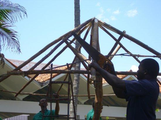 Mombasa Beach Hotel : Sonnendach