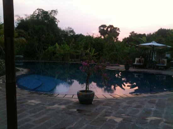 Battambang Resort: soleil couchant