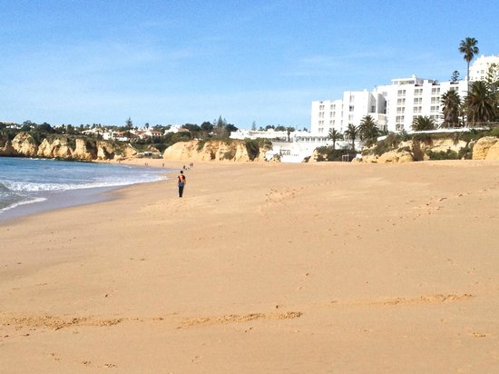 Holiday Inn Algarve:                   View of hotel from beach