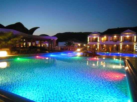 La Marquise Luxury Resort Complex:                   pool by night