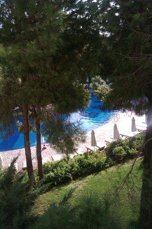 Voyage Belek Golf & Spa:                   Relax Havuz (Odadan görünüm)