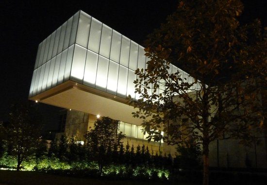 "The Barnes Foundation: A night time view of the Barnes' ""lightbox"""