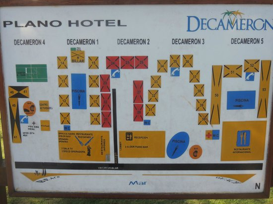 Decameron San Luis:                                     Map