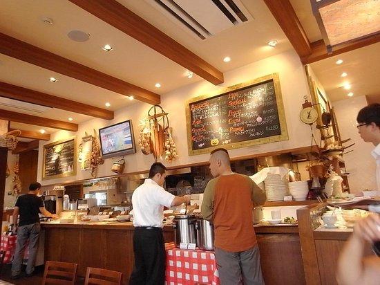 Hotel Resol Trinity Kanazawa :                   樓下的義大利餐廳(早餐用餐處)