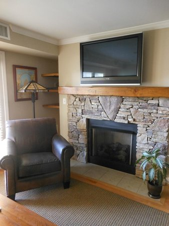 The Residences at Biltmore: Very nice fireplace