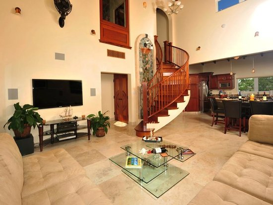 Sea Shore Allure: Three Bedroom Penthouse Suite Living Room, Dining Room & Kitchen