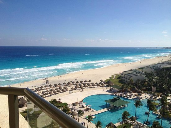 Iberostar Cancun:                   View from ocean view with balcony