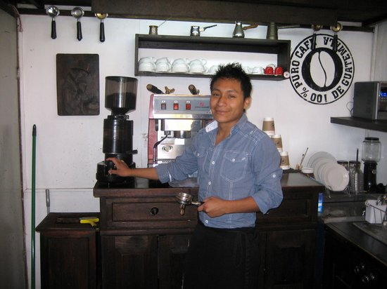 Cafe La Parada: The dedicated  barista - Thank you!