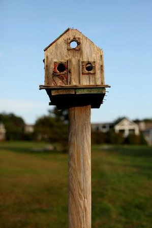 Menemsha Inn and Cottages:                   A birdhouse on the grounds of the Inn
