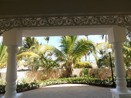 Luxury Bahia Principe Esmeralda Don Pablo Collection:                   View from end of hall in Building 90. Looks directly onto beach area