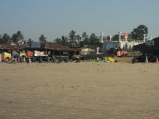 Baga Beach:                                     beach shacks