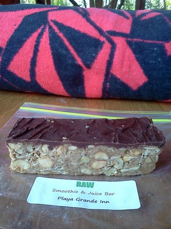 Sugar's Monkey:                   Peanut and chocolate bar from the RAW bar!