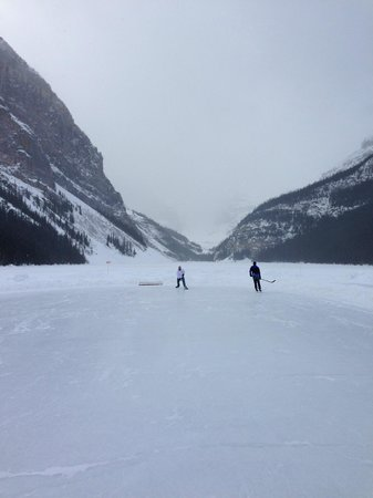 Fairmont Chateau Lake Louise:                   A Skate on the Lake