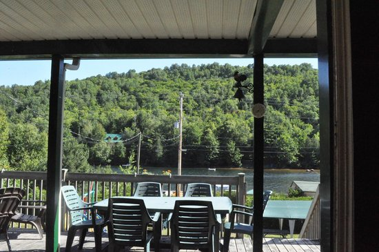 view from breakfast/kitchen space