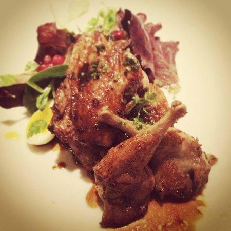 Restaurant Gary Danko: quail salad