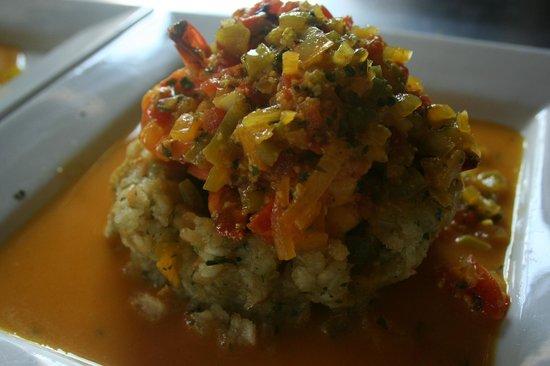 De Lirious: Shrimp stuffed Mofongo