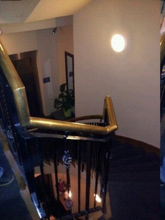 The Camden Hotel: the stairwell, nicely decorated