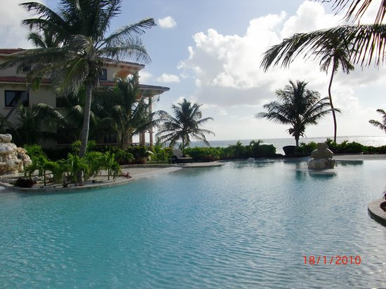 Coco Beach Resort:                   Beautiful view of the east pool area.