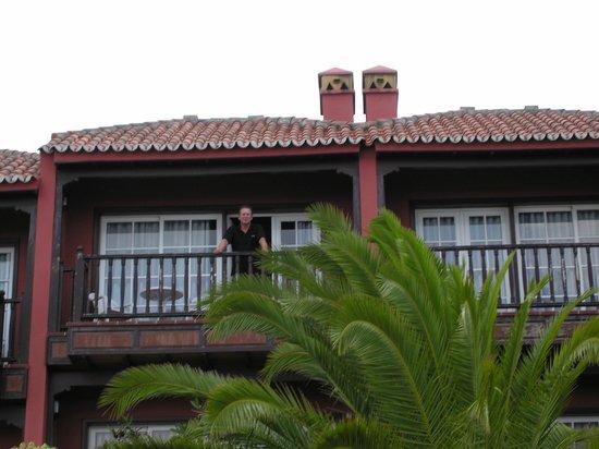 Los Molinos:                   De achterzijde van het appartement (zeezijde)