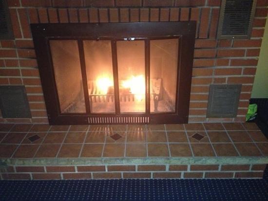 Inn At Deep Creek :                   the romantic fireplace.