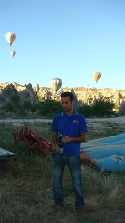Atmosfer Balloons:                   the pilot Yasir Bisgin