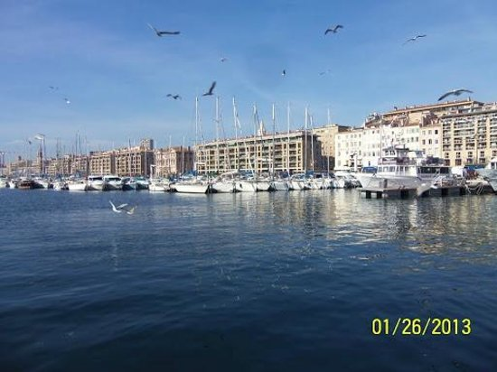 Hotel Marseille Saint Charles:                   7 minute walk from hotel, the port