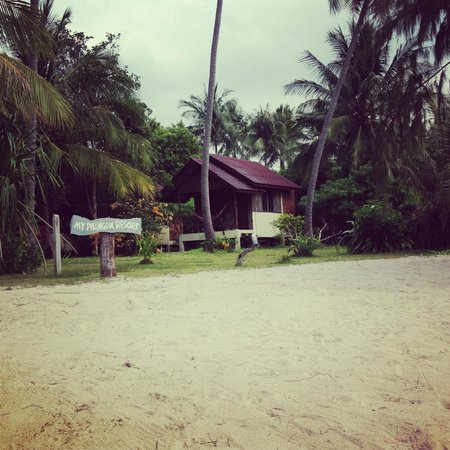 My Phangan Resort :                   View from sea to bungalow
