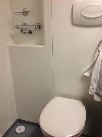 Grand Hotel London:                   toilet inside the shower