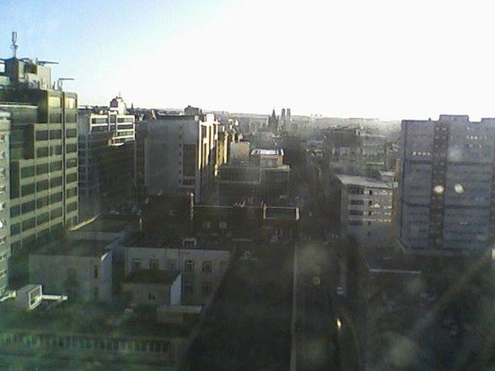 Hilton Glasgow:                   View from the 17th floor