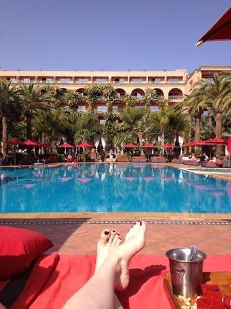 La piscine photo de sofitel marrakech lounge and spa - Piscine sofitel marrakech ...