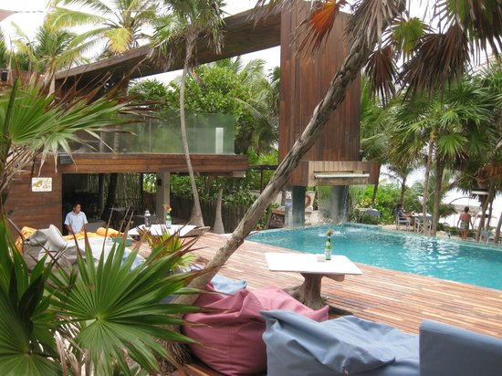 Be Tulum Hotel:                   Pool area