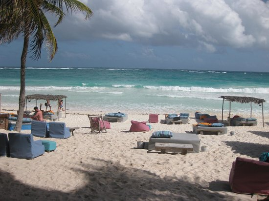 Be Tulum Hotel:                   beach