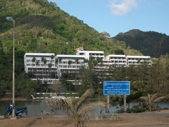 Best Western Phuket Ocean Resort:                   View of hotel from Karon Beach.  Our room in middle second from top floor.