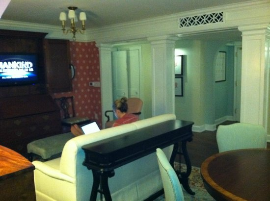 The Carolina Inn :                   Living Room for premium suite