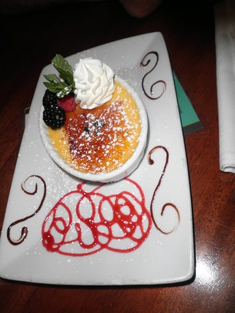 Cannons Seafood Grill:                   Creme brulee